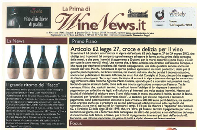 Wine News.it - Il grande ritorno del fiasco