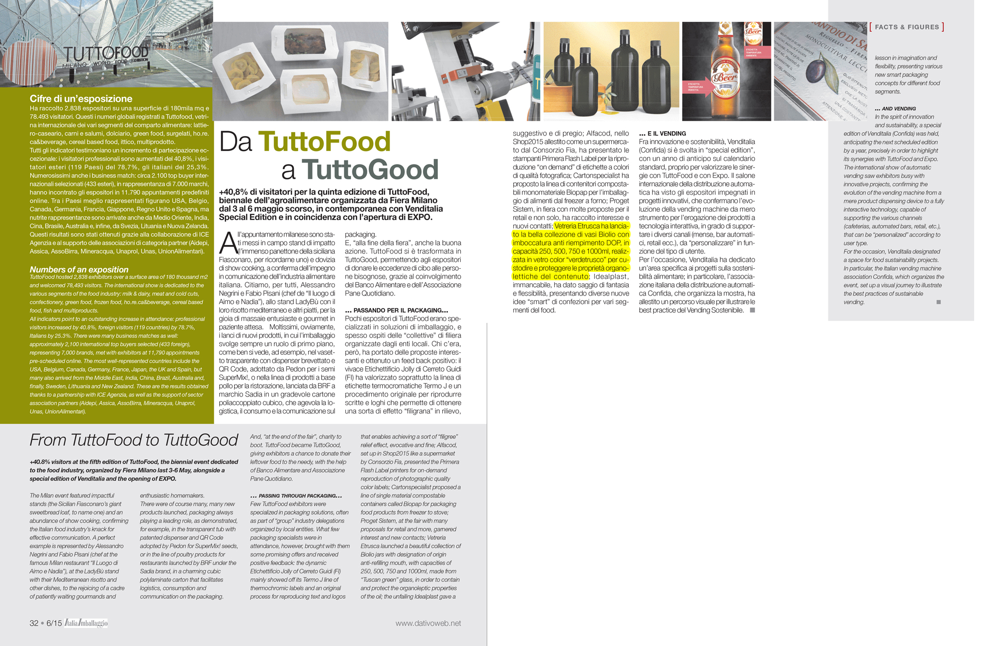 italia imballaggio - da tuttofood a tuttogood - neuigkeiten